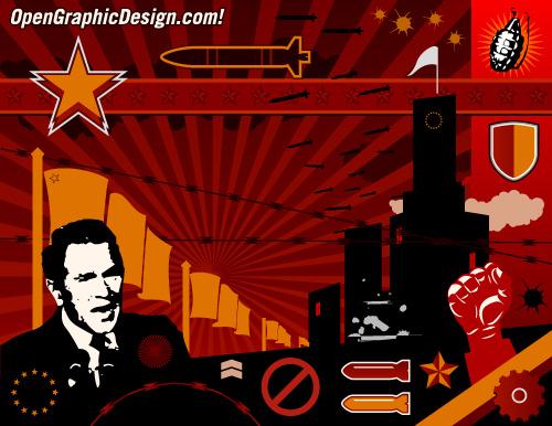 Industrial Revolution Art, Propaganda Poster