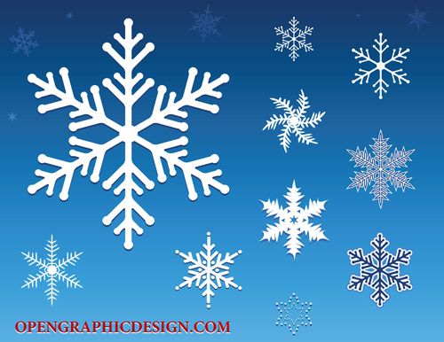 Download Free Vector Snowflakes Illustrator Vector File   ai  Vector    White Snowflake Vector Free Download