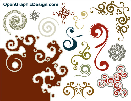 decorative swirls vector graphics