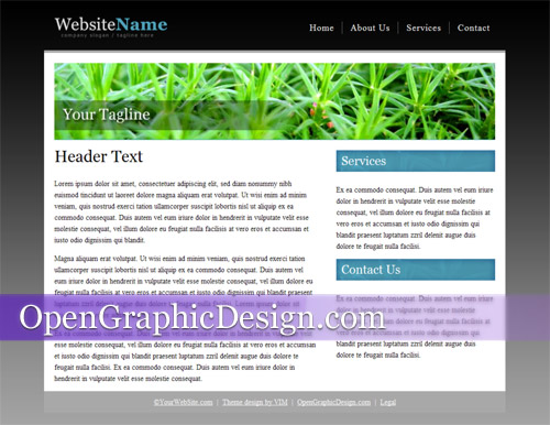 Free HTML website template   Download css and html template files s9X1swmr