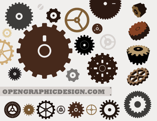 Download Gear Graphics in Vector EPS format - free clock gears ...