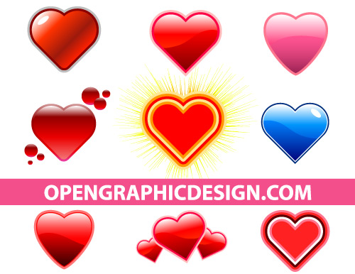 Free Heart and Valentine's Day Graphics in Vector